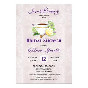 Love Is Brewing Herbal Tea | Bridal Shower Invitation starting at 1.95