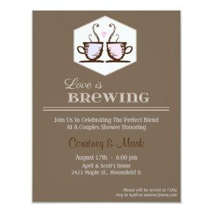 Love is brewing invitation starting at 2.21