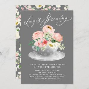 Love is Brewing Pink Floral Bridal Tea Shower starting at 2.40