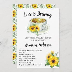 Love is Brewing Sunflowers Tea Bridal Shower starting at 2.66
