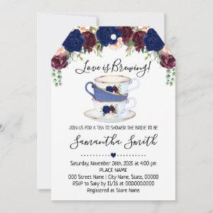 Love is brewing tea bridal shower navy starting at 2.61