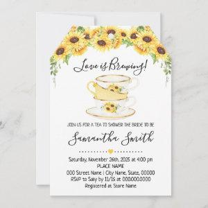 Love is brewing tea sunflowers shower starting at 2.61