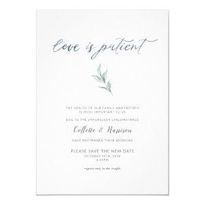 Love is Patient Change the Date Watercolor Vine Invitation starting at 2.40