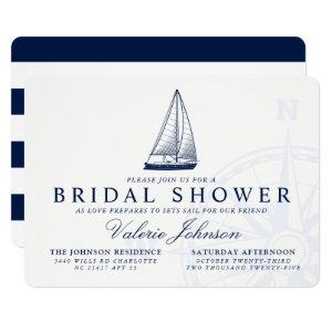Love Sets Sail | Nautical Themed Bridal Shower Invitation starting at 2.75