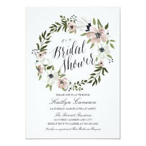 Lovely Floral Wreath- Bridal Shower Invitation starting at 2.10