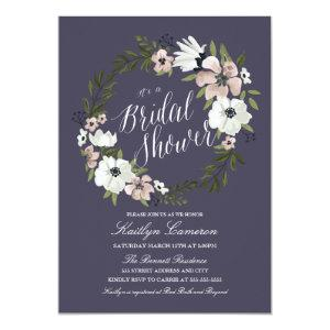Lovely Floral Wreath- Bridal Shower Invitation starting at 2.35