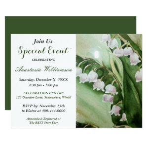LOVELY LILY OF THE VALLEY PARTY EVENT INVITE starting at 2.51