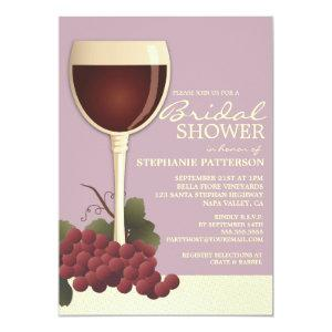 Lovely Wine & Grapes Bridal Shower Invitation starting at 2.56