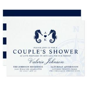 Love's Tide   Dual Seahorse Themed Couple's Shower Invitation starting at 2.51