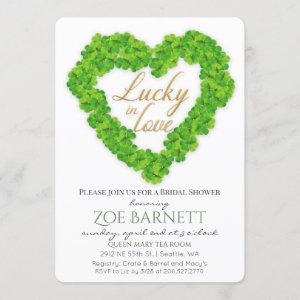 Lucky In Love Clover Bridal Shower Invitation starting at 2.70