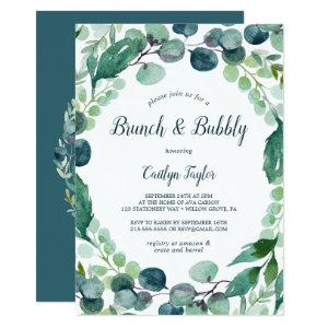 Lush Greenery and Eucalyptus Brunch and Bubbly Invitation starting at 2.51