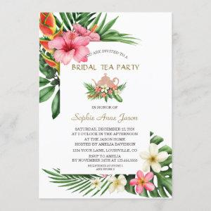 Lush Tropical Garden Flowers Bridal Tea Party Invitation starting at 2.55
