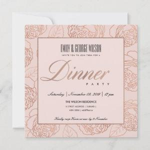 LUXE BLUSH PINK ROSE GOLD FLORAL DINNER PARTY starting at 2.55