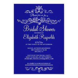 Luxury Royal Blue Bridal Shower Invitations starting at 2.66