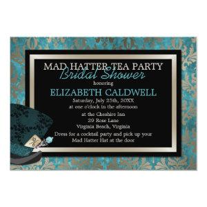 Mad Hatter Alice in Wonderland Bridal Shower Invitation starting at 3.19