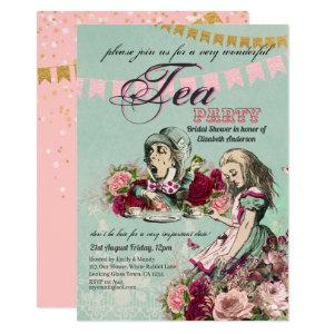 Mad Hatter Alice Vintage Tea Party Bridal Shower Invitation starting at 2.40