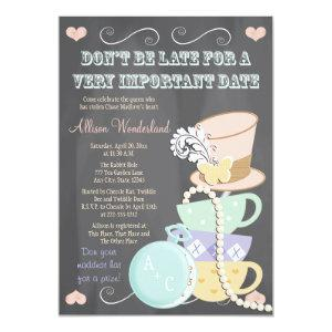 Mad Hatter Bridal Shower Invitations starting at 2.82