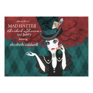 Mad Hatter Bridal Shower Tea Party Invitation starting at 2.82