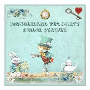 Mad Hatter Wonderland Tea Party Bridal Shower Invitation starting at 2.51