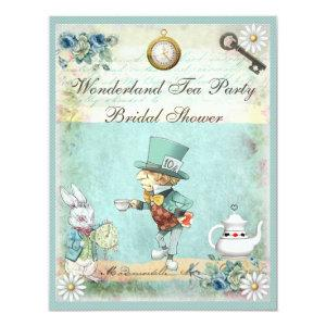 Mad Hatter Wonderland Tea Party Bridal Shower Invitation starting at 2.31