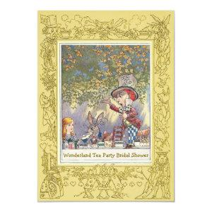 Mad Hatter's Wonderland Tea Party Bridal Shower Invitation starting at 2.66