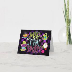 MAD TEA PARTY Whimsical Wonderland Invitation Card starting at 2.90
