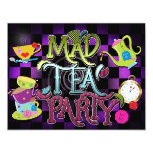 MAD TEA PARTY Wonderland Birthday Party Invitation starting at 2.26