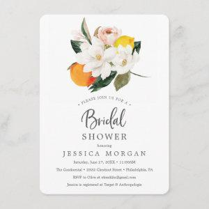 Magnolia Citrus Bridal Shower Invitation Card starting at 2.25