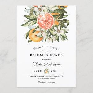 Main Squeeze Citrus Bridal Shower Invitation starting at 2.55