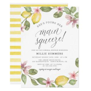 Main Squeeze Floral Lemon Wreath Bridal Shower Invitation starting at 2.45