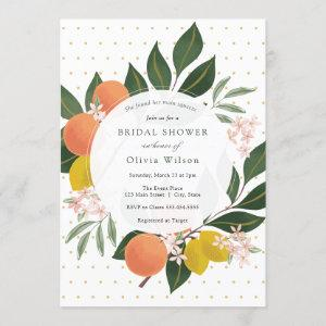 Main Squeeze Lemon and Oranges Bridal Shower Invitation starting at 2.65