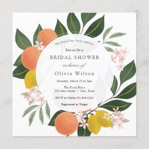Main Squeeze Lemon and Oranges Bridal Shower Invitation starting at 2.50