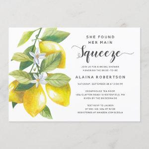 Main Squeeze Lemon Bridal Shower Invitation starting at 2.40