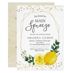 Main squeeze lemon bridal shower invitation starting at 2.25