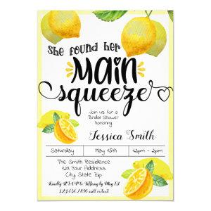 Main Squeeze Lemon Bridal Shower Summer Spring Invitation starting at 2.55