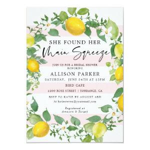 Main Squeeze Lemon Theme Bridal Shower Invitation starting at 2.61