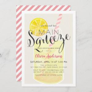 Main Squeeze Lemonade Mason Jar Bridal Shower Invitation starting at 2.56