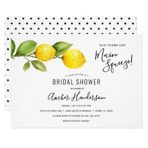 Main Squeeze Lemons Bridal Shower Invitation starting at 2.15