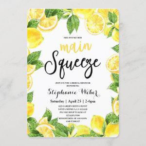 Main Squeeze Lemons Bridal Shower Invitation starting at 2.70