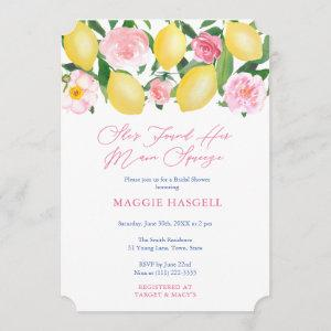 Main Squeeze Lemons Mediterranean Bridal Shower Invitation starting at 2.91