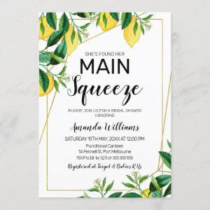Main squeeze line art bridal shower invitation starting at 2.40