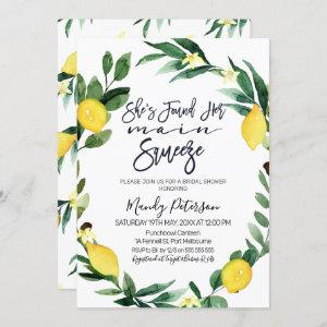 Main squeeze wreath bridal shower invitation starting at 2.40