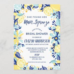 Main Squeeze Yellow Lemons Mint Briday Shower Invitation starting at 2.55