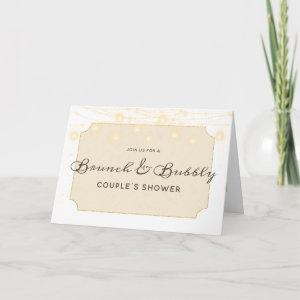 Maple Grove Lights Brunch & Bubbly Couple's Shower Invitation starting at 3.45