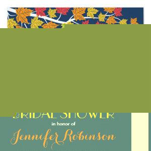 Maple Leaves Navy Blue Fall Wedding Invitation starting at 2.41