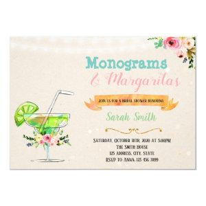 Margaritas and monograms party invitation starting at 2.50