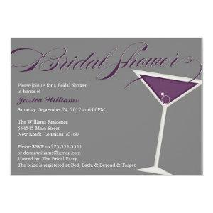 Martini Bridal Shower | Purple Invitation starting at 2.56