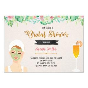 Mask and mimosas party theme invitation starting at 2.50