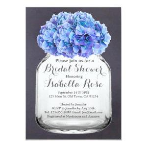Mason jar blue hydrangea bridal shower hydrangea7 invitation starting at 2.31