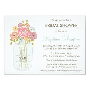 Mason Jar Bridal Shower Invitation starting at 2.05